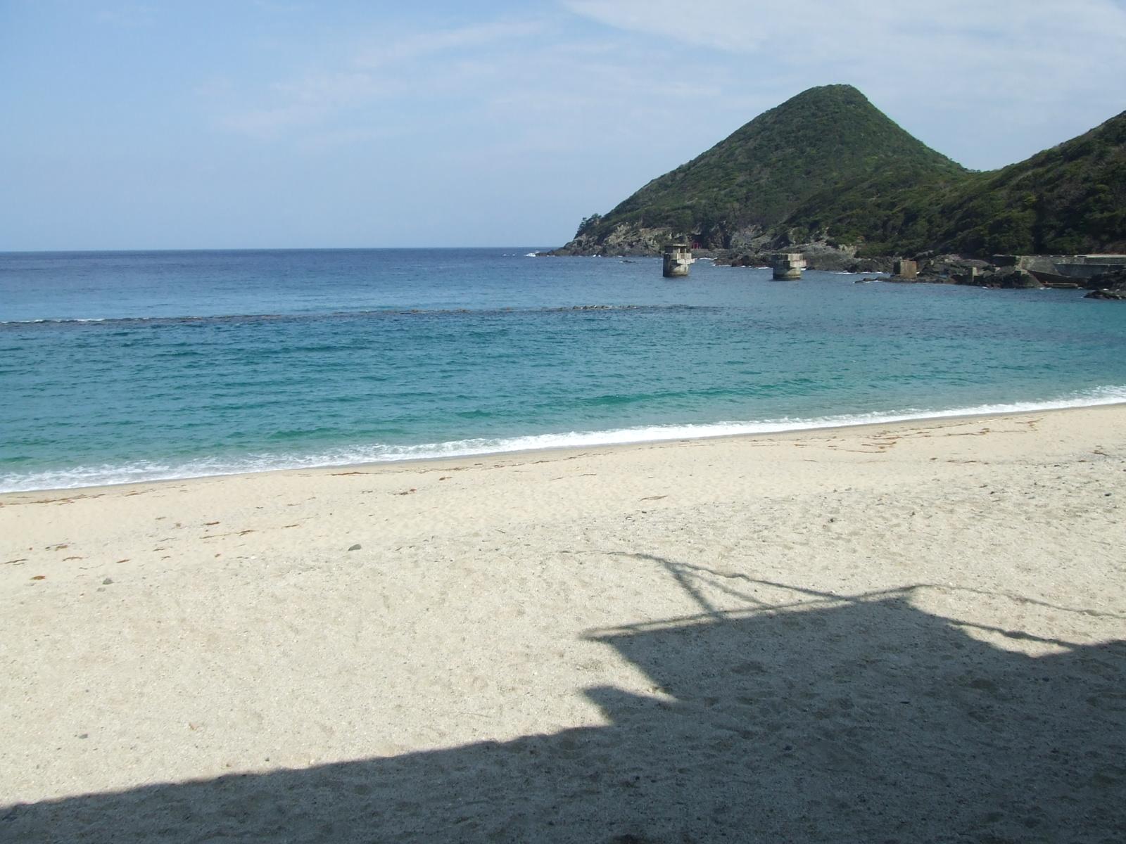 屋久島にて。時期外れの海岸