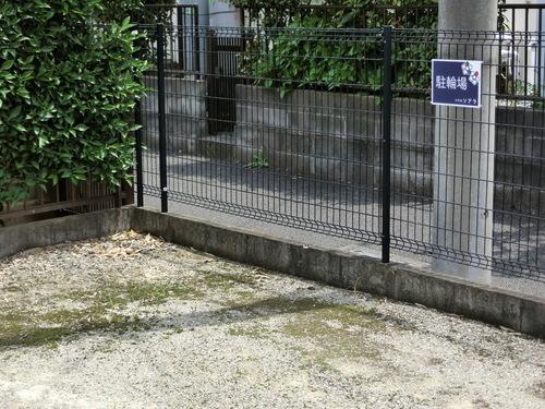駐車場内に当塾の駐輪場があります